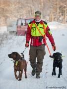 Jägare med hund