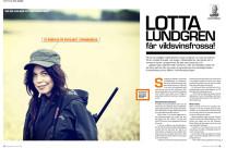 På jakt med Lotta Lundgren